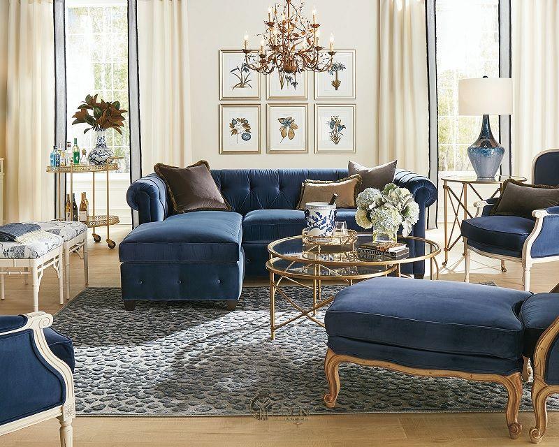 Mẫu thiết kế phòng khách phong cách Cổ điển ấn tượng (1)