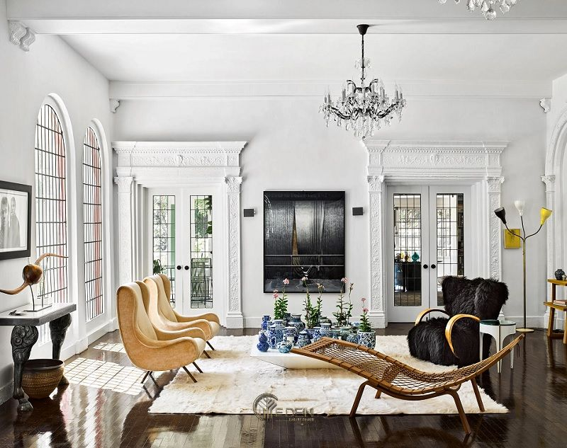 Mẫu thiết kế phòng khách phong cách Tân cổ điển mới lạ (1)