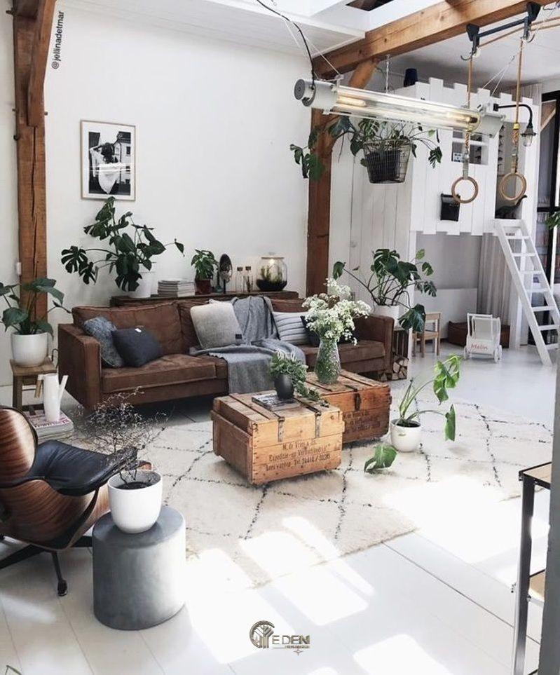 Mẫu thiết kế phòng khách phong cách Bohemian cuốn hút (2)
