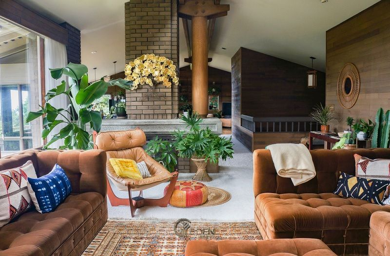 Mẫu thiết kế phòng khách phong cách Bohemian cuốn hút (3)
