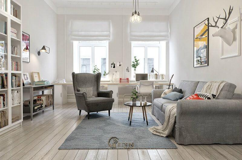 Mẫu thiết kế phòng khách phong cách Scandinavia thanh thoát, nhẹ nhàng (1)