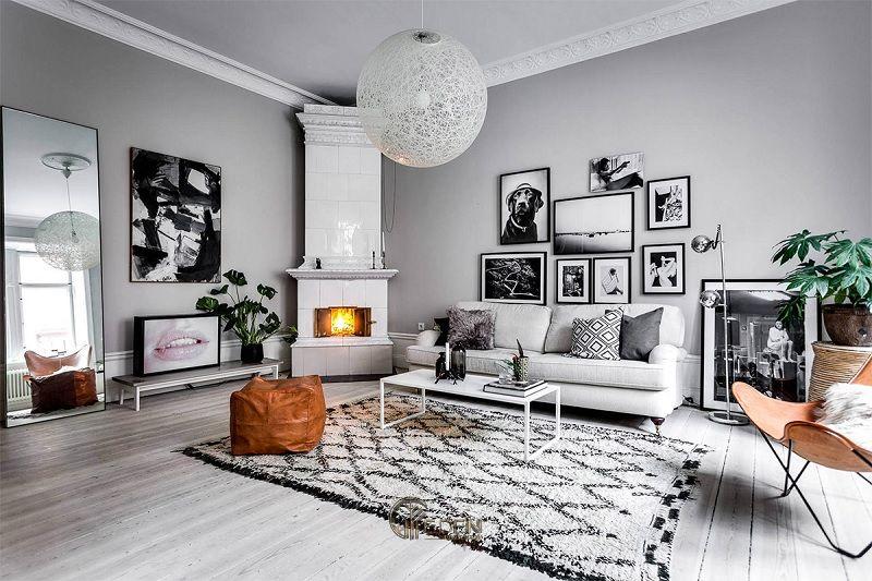 Mẫu thiết kế phòng khách phong cách Scandinavia thanh thoát, nhẹ nhàng (2)
