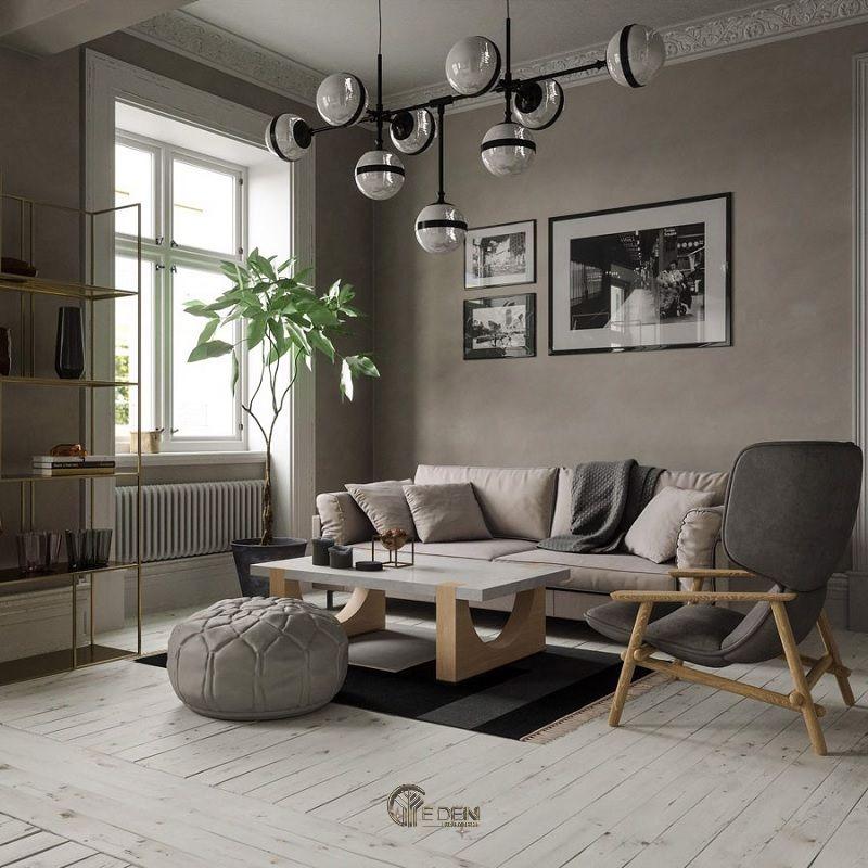 Mẫu thiết kế phòng khách phong cách Scandinavia thanh thoát, nhẹ nhàng (3)