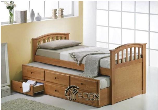 Giường gỗ có hộc kéo bền đẹp, chất lượng