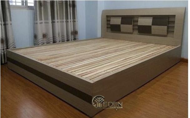 Mẫu giường ngủ bằng gỗ công nghiệp MDF