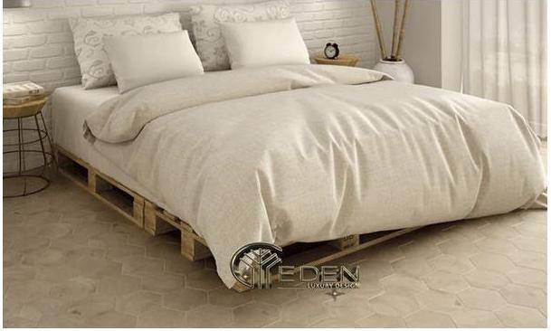 Mẫu giường ngủ bằng gỗ Pallet hiện đại, tiện nghi, sang trọng