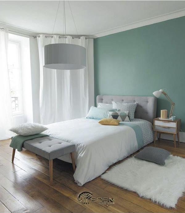 Phòng ngủ màu xanh ngọc bích đẹp, ấn tượng