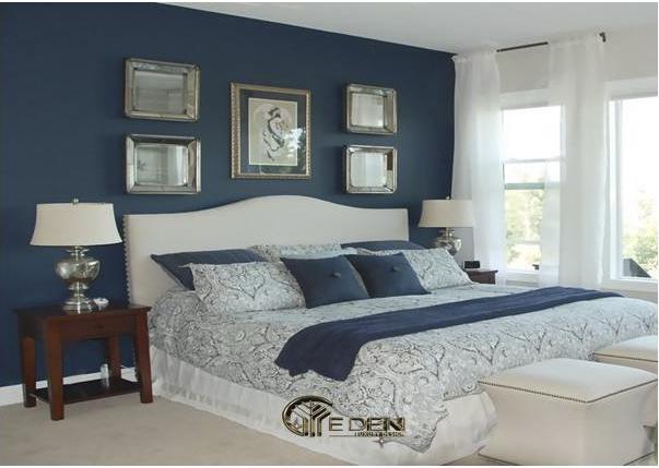 Phòng ngủ màu xanh ngọc lam