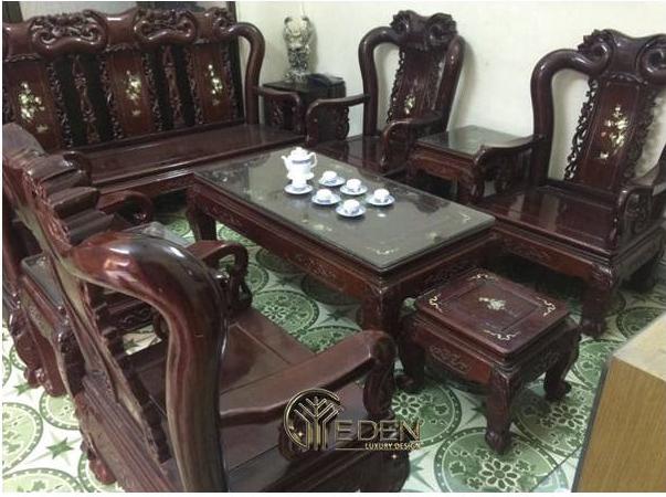 Bàn ghế gỗ gụ đẹp, độc đáo
