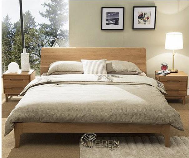 Giường chắc chắn từ gỗ sồi