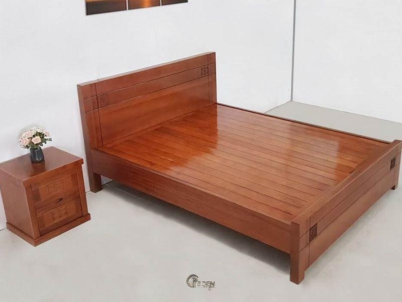 Mẫu giường ngủ xoan đào được nhiều gia đình hiện đại ưa chuộng