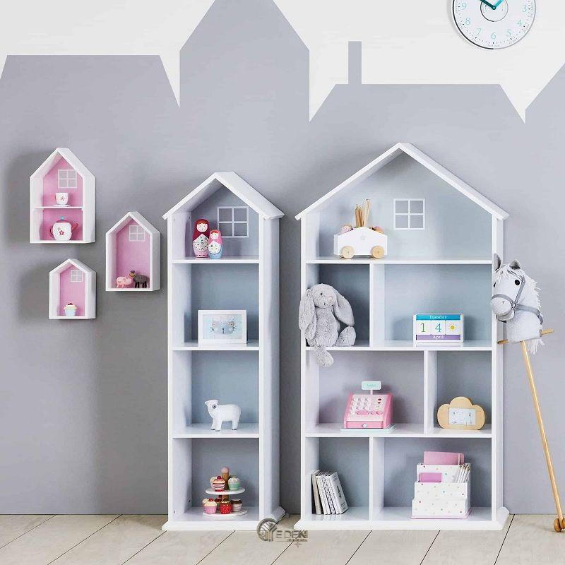 Mẫu kệ sách độc đáo dành riêng cho thiết kế phòng ngủ cho bé kích thích khả năng sáng tạo