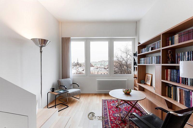 Ý tưởng 7: Mẫu kệ sách dành riêng cho không gian làm việc, đọc sách