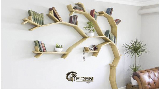 Kệ sách hình nhánh cây treo tường vừa có thể làm kệ để đồ