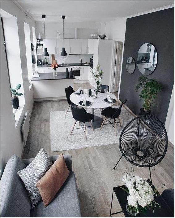 Phòng khách liền kề bếp chung