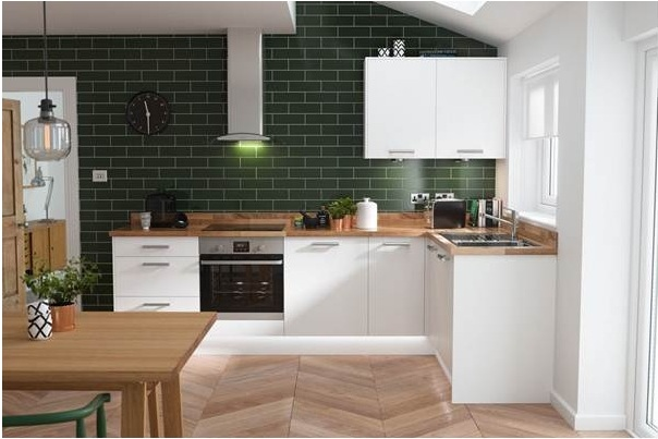 Màu sắc tươi sáng kiến phòng bếp thêm hiện đại
