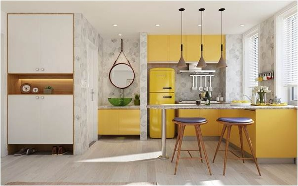Phòng bếp ấn tượng, hiện đại