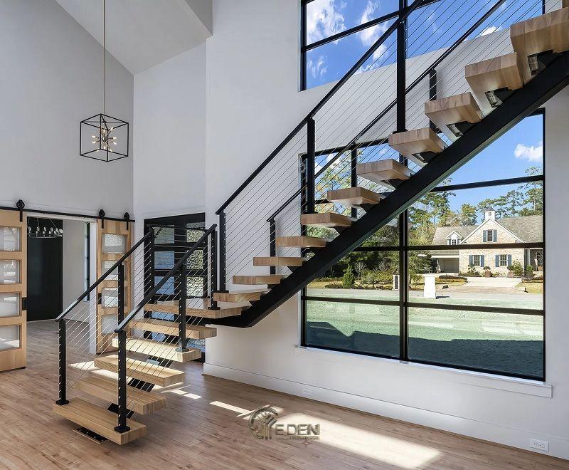 Mẫu cầu thang bằng sắt mang xu hướng độc đáo, sáng tạo đến cho ngôi nhà (2)