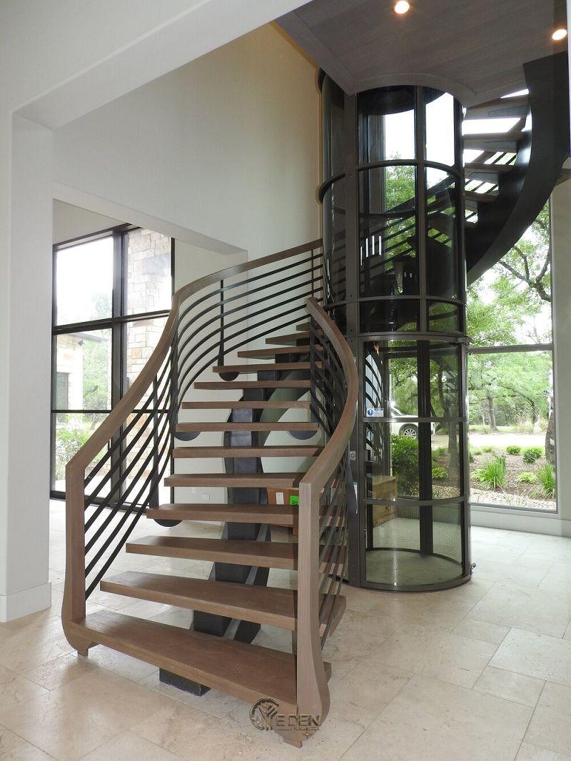 Mẫu cầu thang bằng sắt mang xu hướng độc đáo, sáng tạo đến cho ngôi nhà (3)