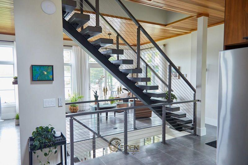 Mẫu cầu thang bằng sắt mang xu hướng độc đáo, sáng tạo đến cho ngôi nhà (3a)