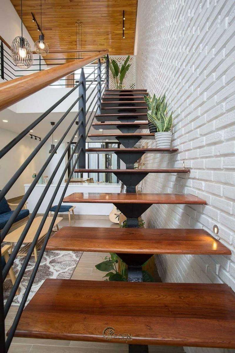 Mẫu cầu cầu thang gỗ bền, đẹp (3)