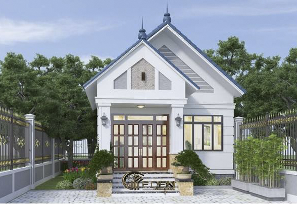 Nhà cấp 3 mái thái với lối kiến trúc đơn giản