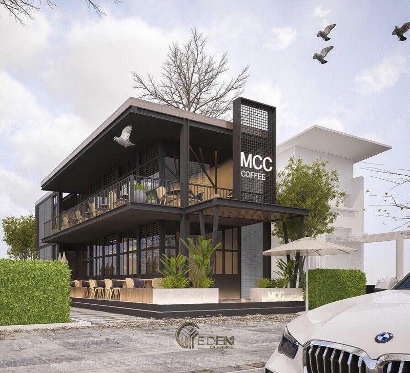 Mẫu quán cafe thép tiên chế hot nhất 2021