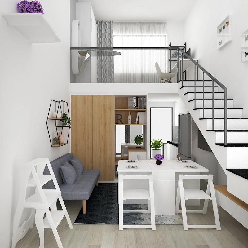 Mẫu bàn ăn gấp gọn cho căn hộ nhỏ, tinh tế nhưng không tầm thường, vô vị