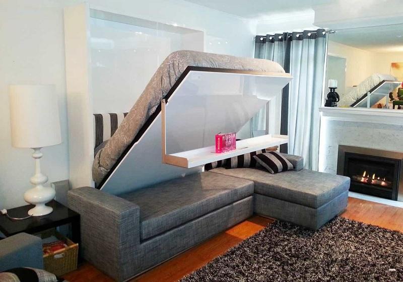 Mẫu giường gấp thông minh cho không gian tối giản, hiện đại