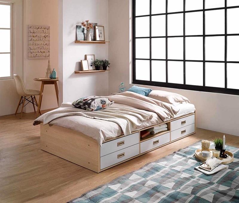 Mẫu giường ngủ thông minh nhiều ngăn cho trẻ em. Mẫu giường ngủ có thể giúp bé tự cất đồ chơi của mình,. Điều này giúp bé cải thiện tính tự giác của mình hơn