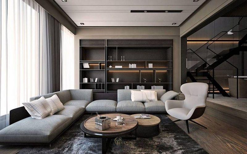 Màu trung tính, đen và trắng là những màu chủ đạo trong nội thất phong cách đương đại