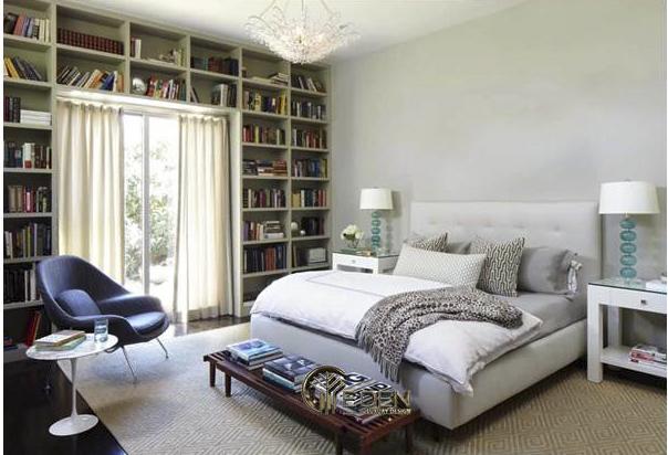 Không gian phòng ngủ trở nên thú vị hơn khi thiết kế góc đọc sách