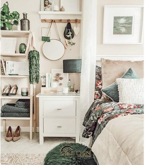 Lạc vào khu rừng nhiệt đới với căn phòng ngủ màu hồng, xanh lá cây