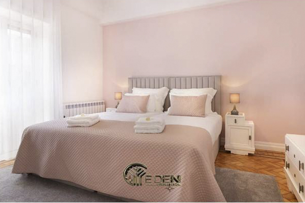 Phòng ngủ màu hồng trang nhã, hiện đại