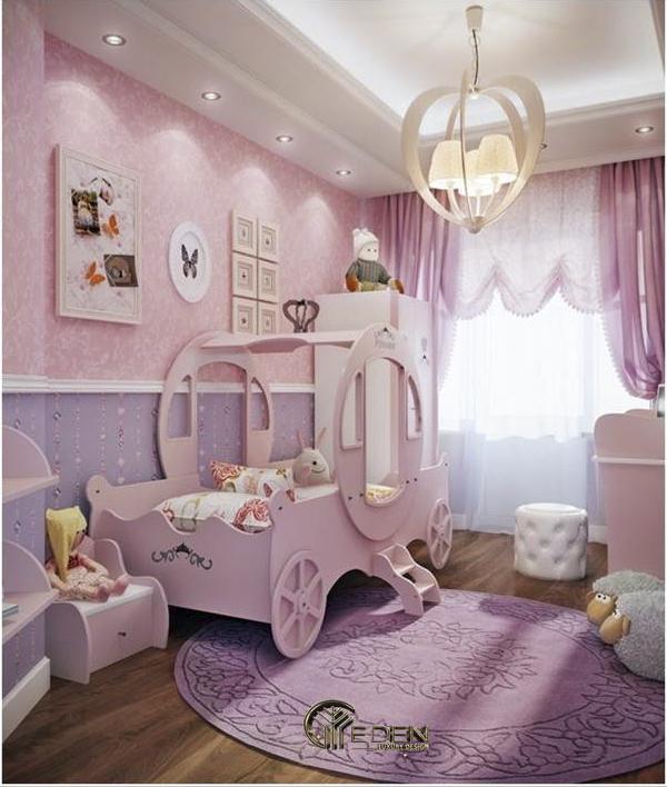 Lạc vào xứ sở cổ tích với căn phòng ngủ màu hồng tím