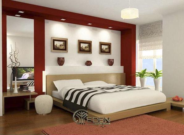Màu sắc phòng ngủ ấm áp, ngọt ngào
