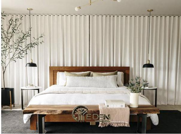 Đặt giường ngủ giữa phòng
