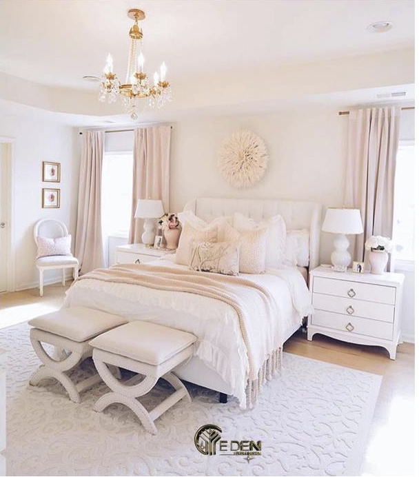 Phòng ngủ màu hồng pastel dịu nhẹ