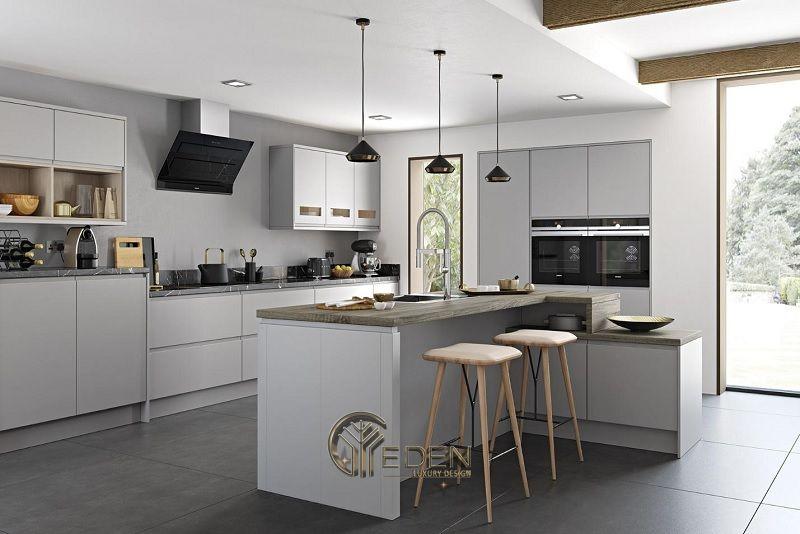 Thiết kế nội thất nhà phố phòng bếp – Mẫu 2