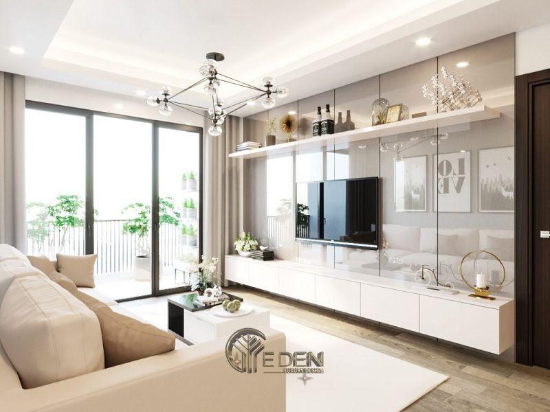 Thiết kế nội thất nhà phố phòng khách – Mẫu 6