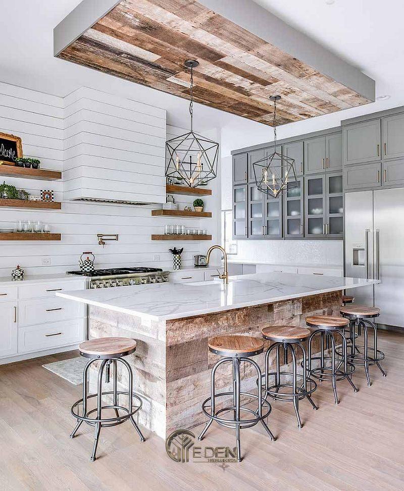 Thiết kế nội thất nhà phố phòng bếp – Mẫu 1