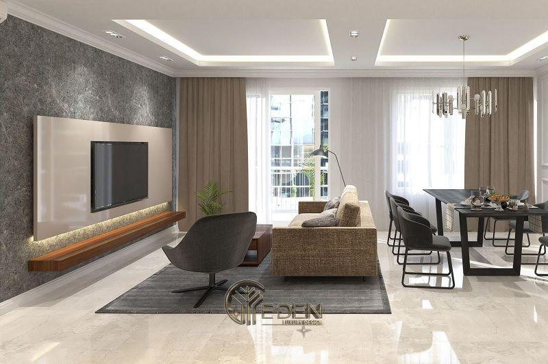 Thiết kế nội thất nhà phố phòng khách – Mẫu 5