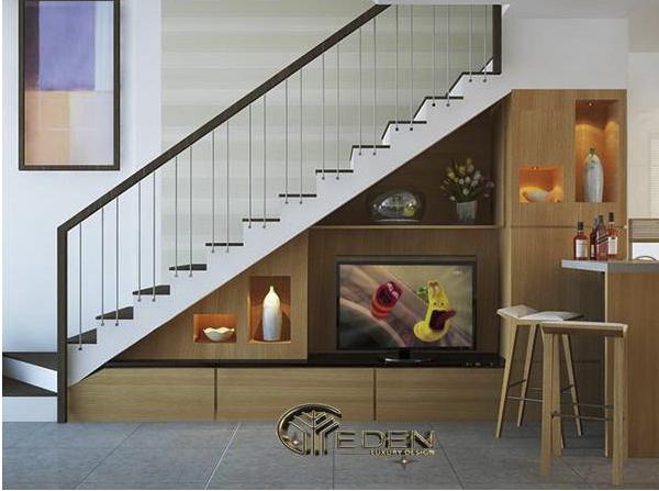 Sắp xếp tivi giúp tiết kiệm diện tích căn nhà