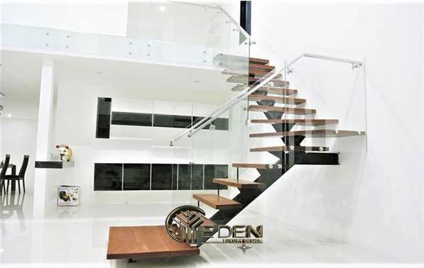 Thiết kế cầu thang hở cuối nhà không hợp phong thủy