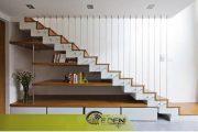 5+ lưu ý lớn khi thiết kế cầu thang ở cuối nhà để vượng gia