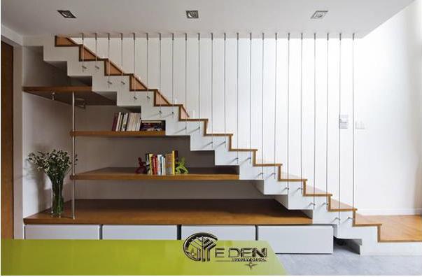 Tận dụng không gian gầm cầu thang để trang trí