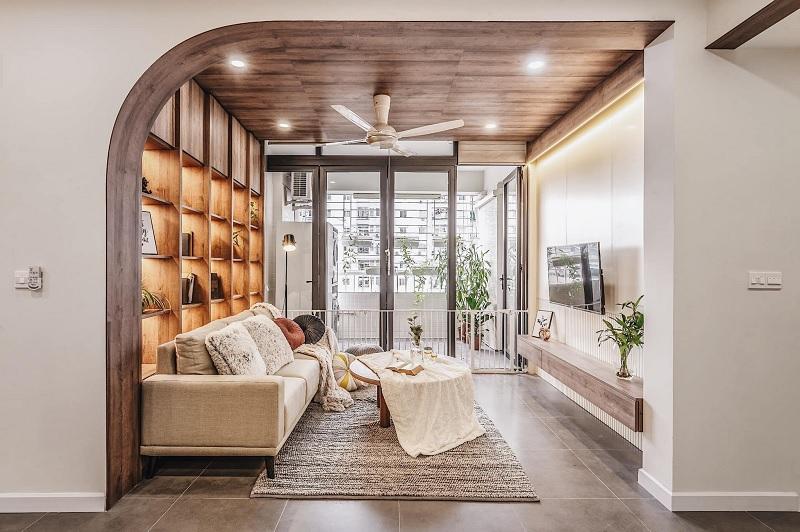 Những mẫu trang trí phòng khách chung cư cao cấp 4