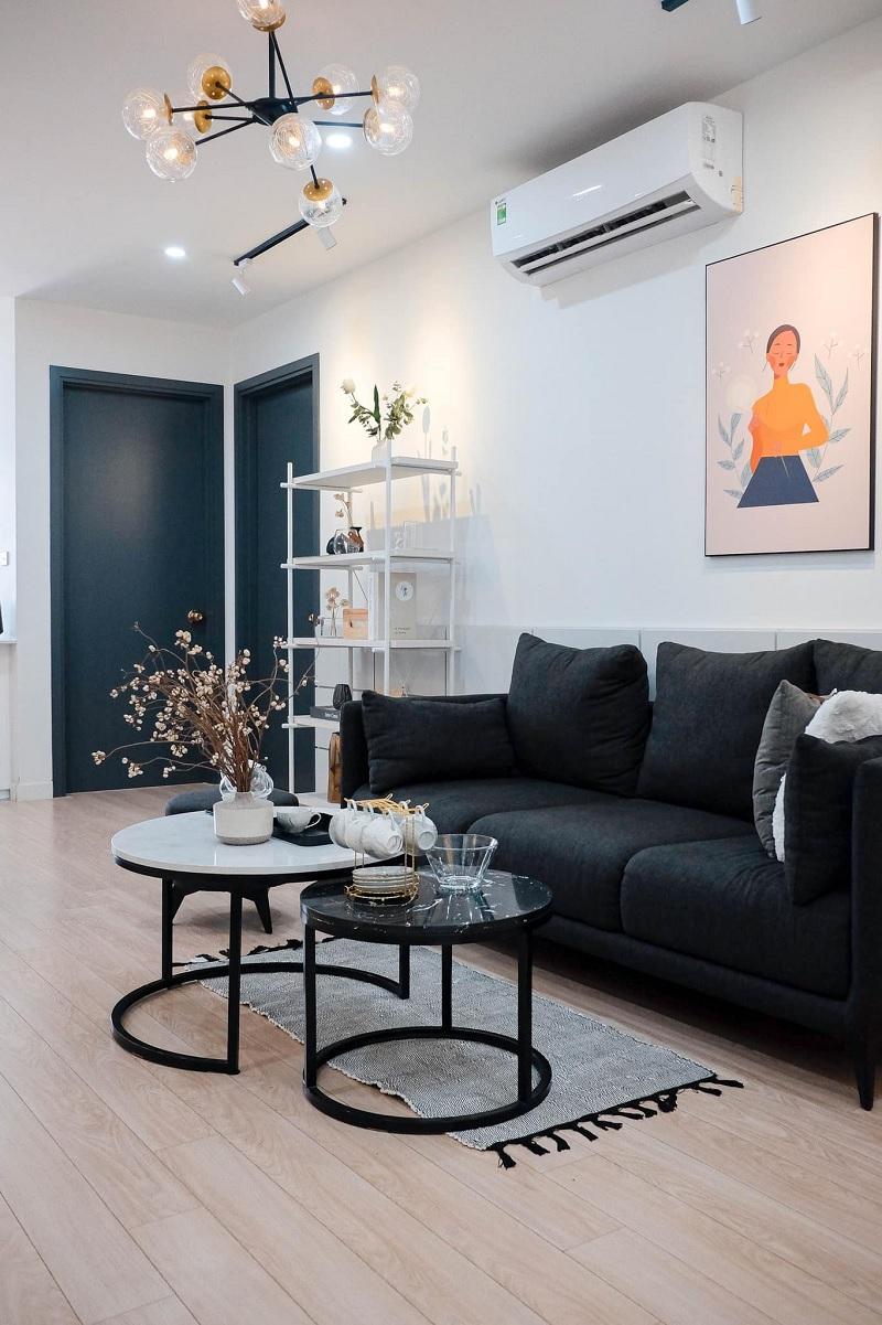 Những mẫu trang trí phòng khách chung cư tối giản 6