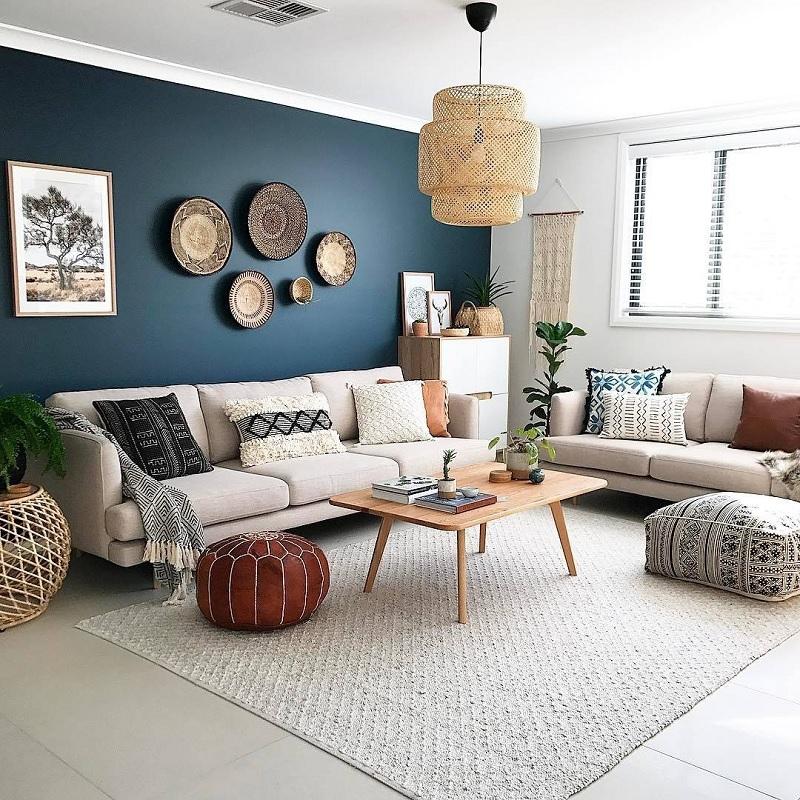Những mẫu trang trí phòng khách chung cư tối giản 7