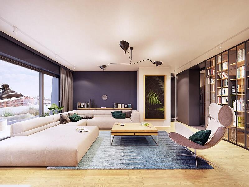 Những mẫu trang trí phòng khách chung cư cao cấp 1